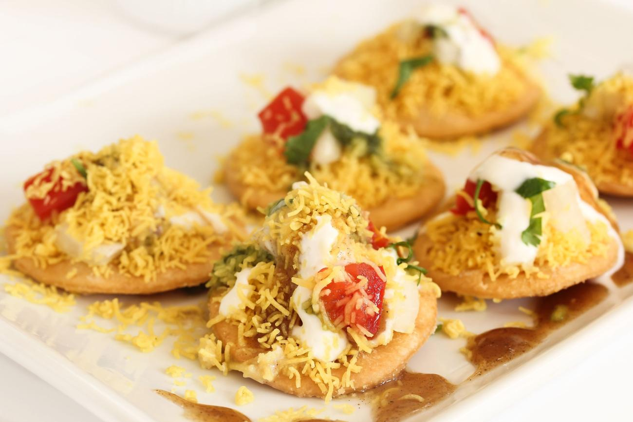 Dahi Batata Puri Indian Chaat- Popular Maharashtrian street food
